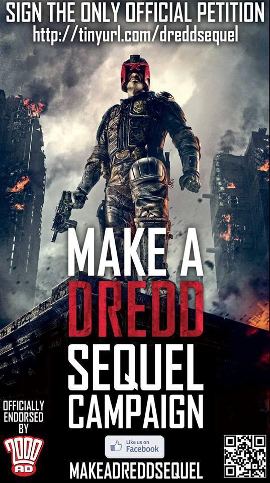 Dredd sequel peticion
